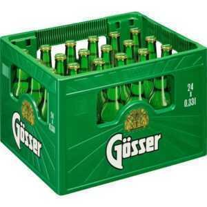 Gösser Bier in der praktischen Kiste