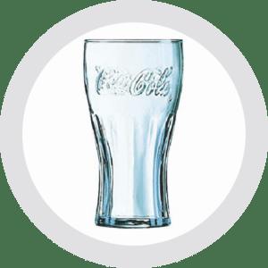 Getränkezustelldienst verleiht Gläser